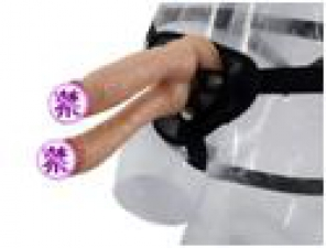 Страпон двойной мужской без вибрации на трусикахMassX