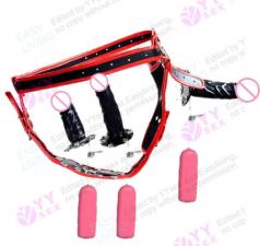 MCL-SEX005 Страпон тройной на трусиках с вибрацией MassX